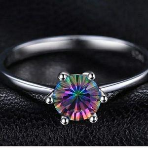 ❗️NEW❗️Mystic Fire Rainbow Topaz Ring Size 6